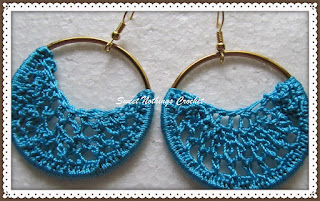 crochet ear ring
