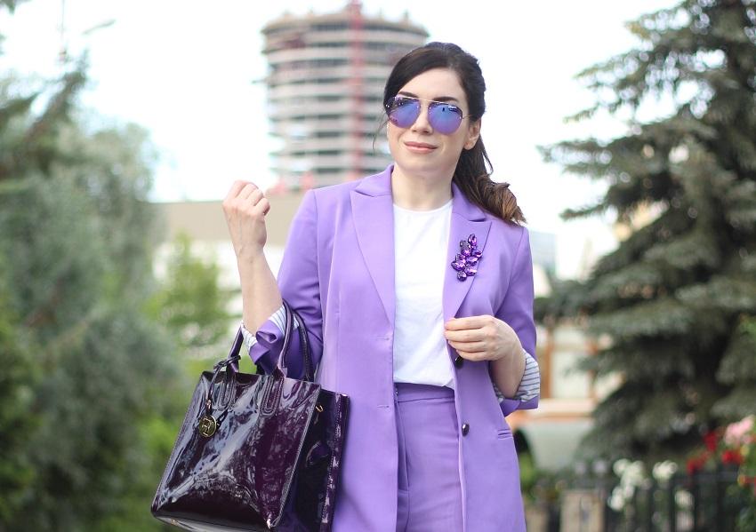 alışveriş-lila ceket pantolon takım-moda blogu-fashion blogger-shein