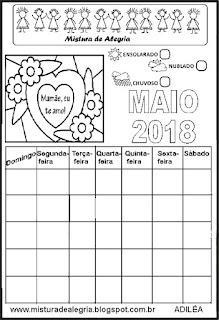 Calendário de 2018 para completar