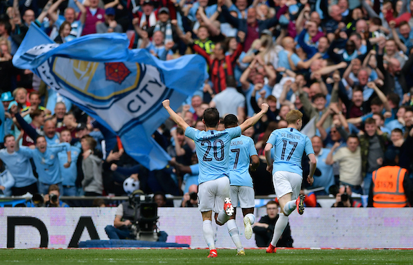 Man City Players Celebrate