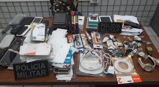 Nas últimas 24h, policiais do 4º BPM realizam oito prisões e recuperam objetos furtados
