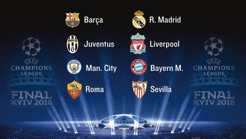 Horario y dónde ver el sorteo de cuartos de final de Champions
