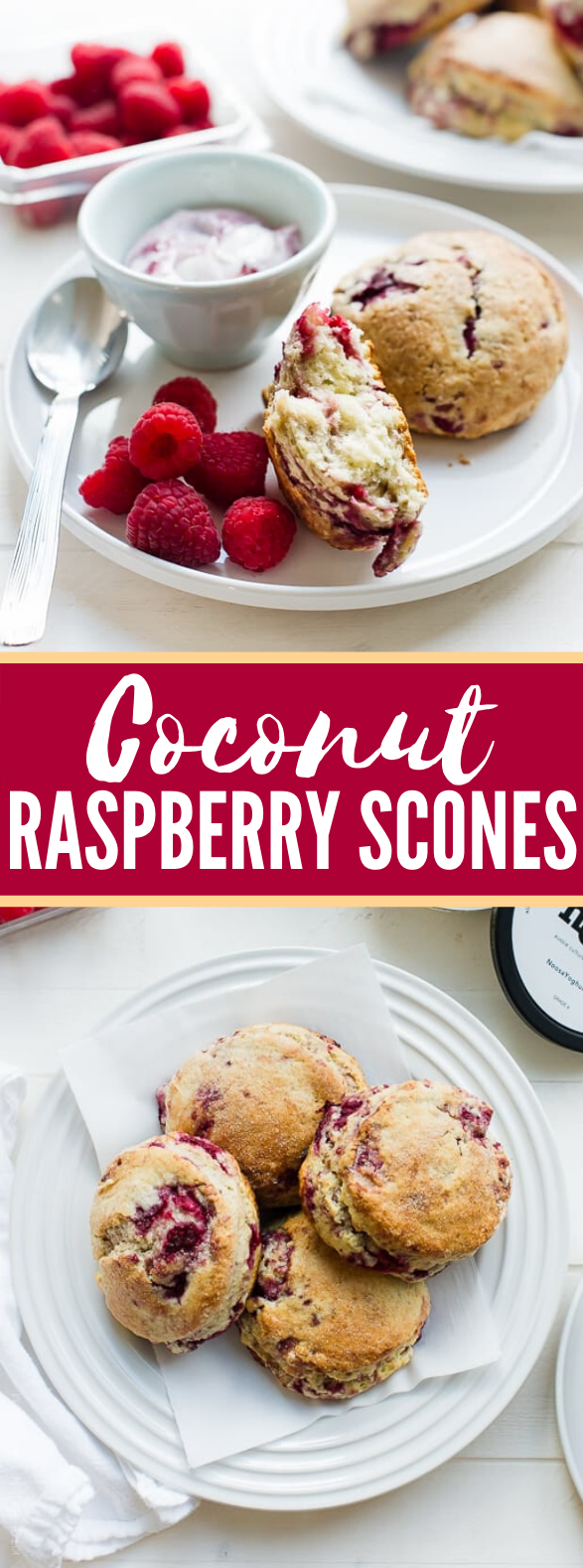 COCONUT RASPBERRY SCONES #desserts #bread