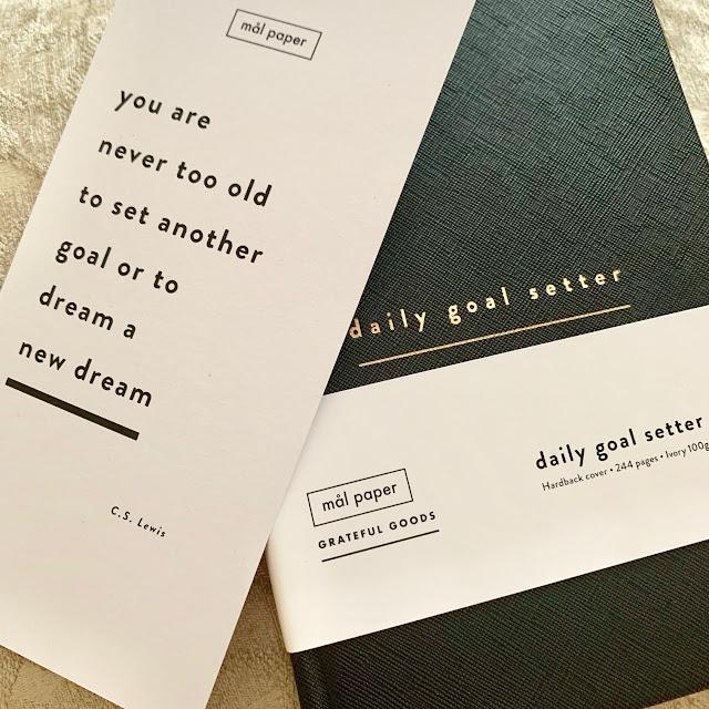 Malpaper Daily Goal Setter Book
