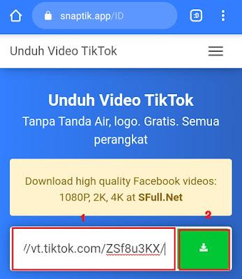 cara menyimpan video tik tok tanpa watermark