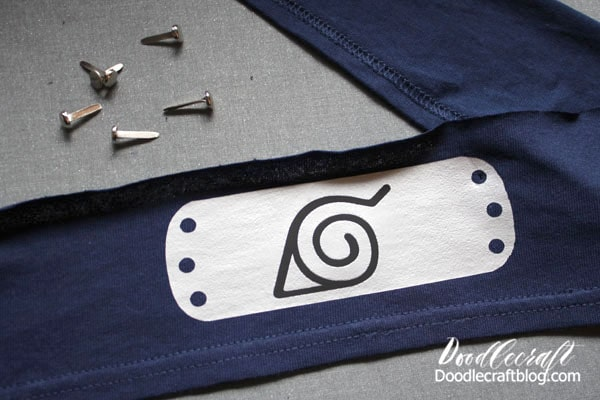 Then iron-on the black hidden leaf symbol.