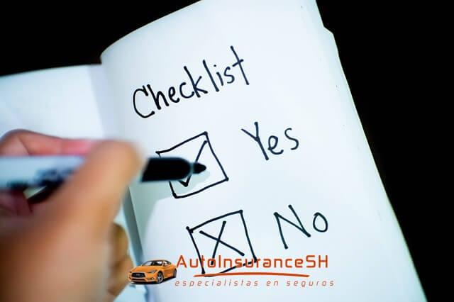 checklist para elegir la mejor póliza de seguro