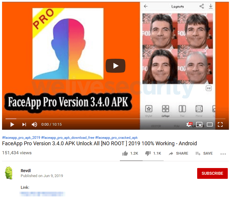 - fake 2Bfaceapp 2Bpro - FaceApp Pro – A Fake Version of FaceApp Infect Android Users