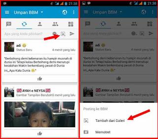 Cara ganti DP BBM tanpa ubah Gambar Profil