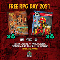 Did Not Realize That Free RPG Day was LAST Weekend: DCC QSR Still Available Though!