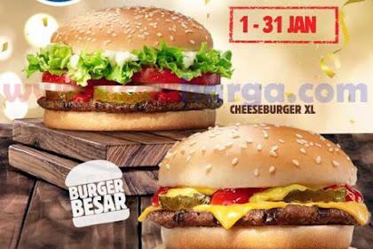 Harga Promo Burger King Terbaru 1 - 31 Januari 2019