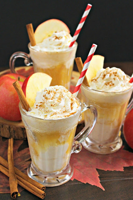 Homemade Apple Cider Floats from LoveandConfections.com