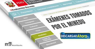 EXÁMENES TOMADOS POR EL MINISTERIO DE EDUCACIÓN DEL PERÚ