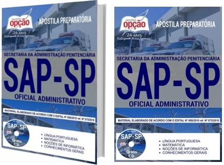 Apostila Concurso SAP-SP 2018 Oficial Administrativo
