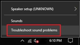 Troubleshooting sound problem