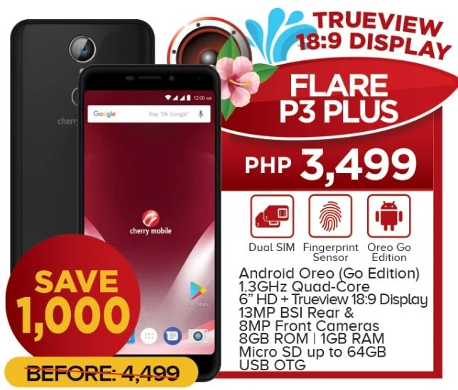 Cherry Mobile Flare P3 Plus Now Only Php3,499