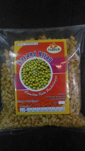 """Snack kacang hijau """"Mabrur"""" camilan Kota Probolinggo"""