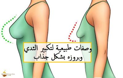 وصفات طبيعية لتكبير الثدي وبروزه بشكل جذاب