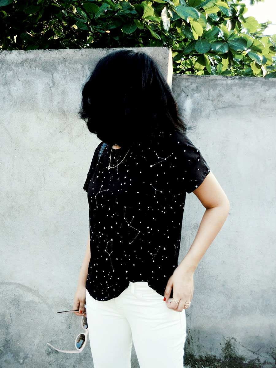 Mango womens T-Shirt,womensWhitejeans, Zara Black Mini city Bag,Zara White Slingback heels,Indian styleblogger