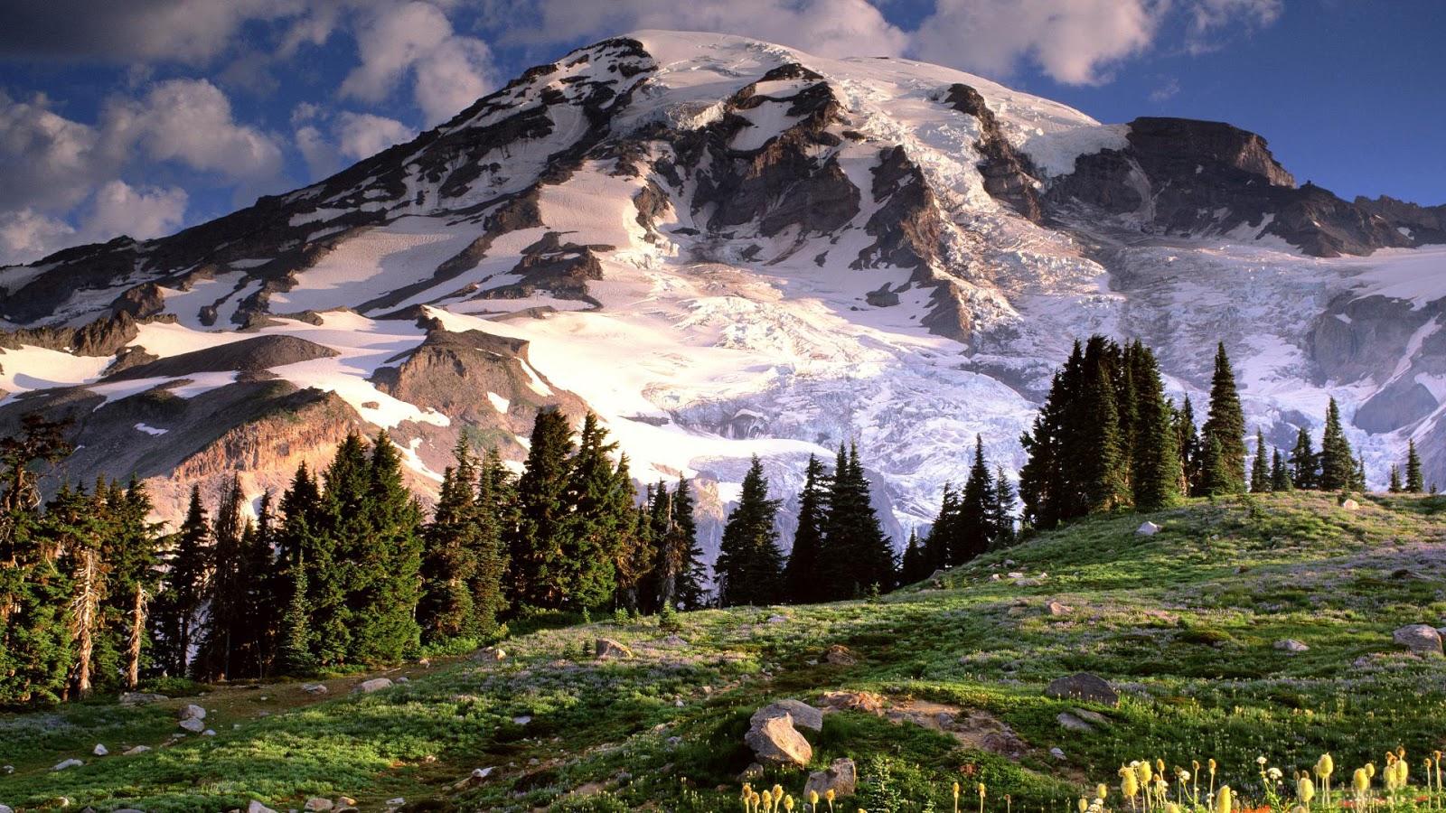 Gunung Rainier, Mount Rainier, wallpaper desktop, wallpapers hd, wallpaper love, wallpapers for android, wallpaper 3d, wallpaper nature, wallpaper for mobile, wallpaper photo