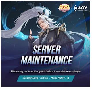 Maintenance AOV 2019 untuk mempermudah komunikasi antar pemain