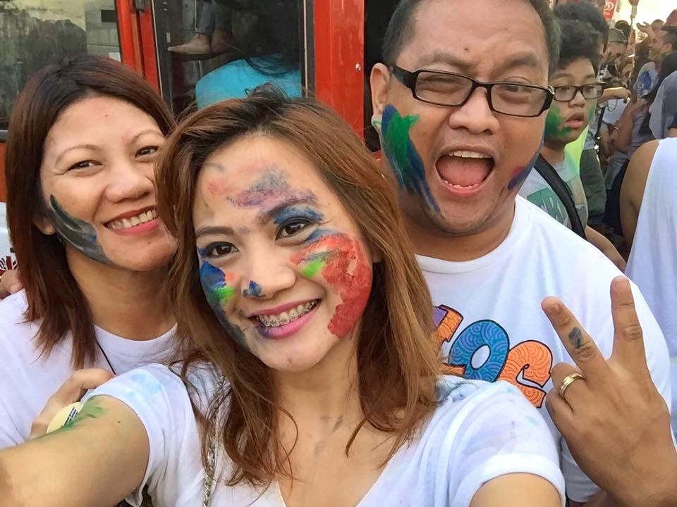 getting painted at Sinulog 2015