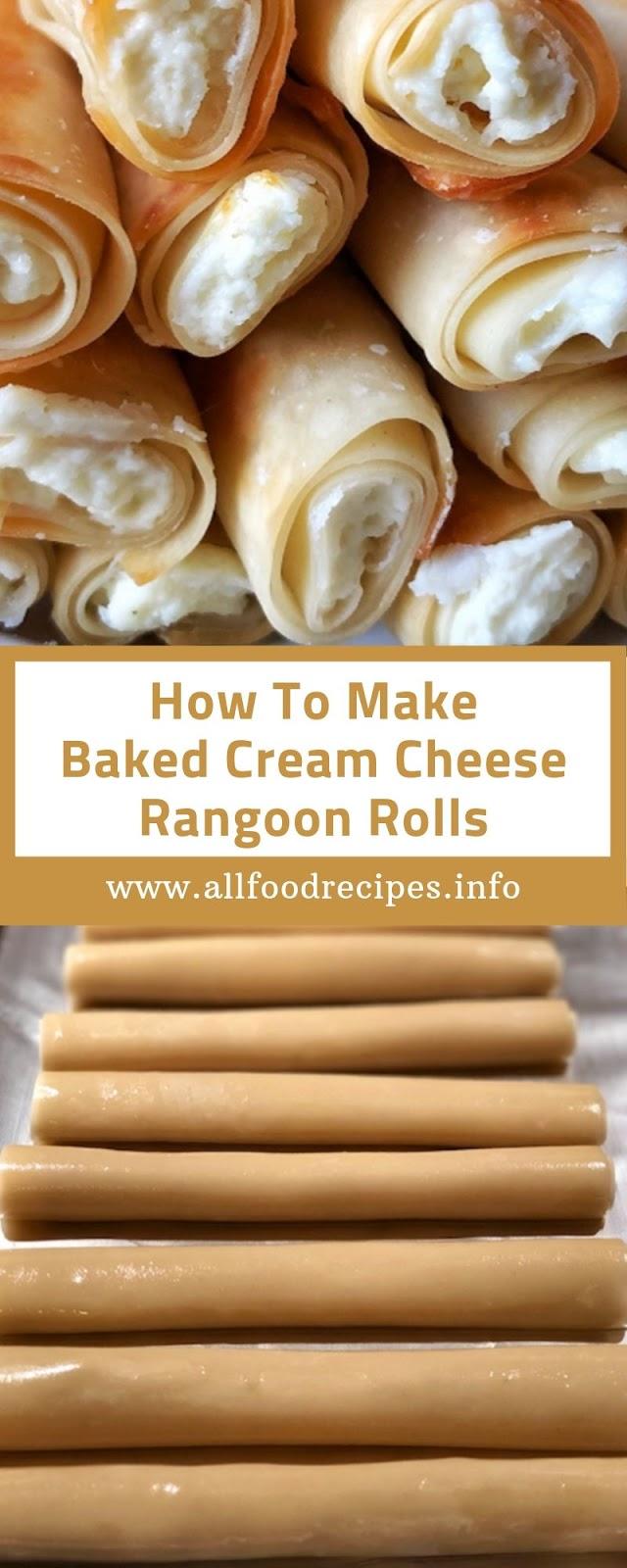 How To Make Baked Cream Cheese Rangoon Rolls
