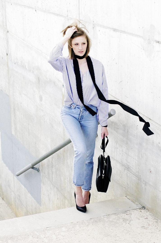 levis 501, vintage jeans, skinny scarf, minimal style blog, slovenski modni blog