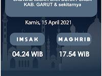 Jadwal Imsak, Buka Puasa, Sahur dan Waktu Shalat untuk Garut dsk, Hari Kamis 15 April 2021