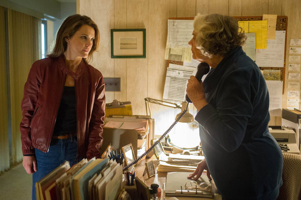 Keri Russell and Lois Smith in The Americans