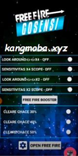 APK MOD Gosensi Sensitivitas Free Fire Auto Headshot