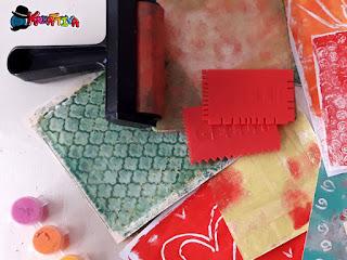 come fare una texture con piastra gel (Gel Printing)