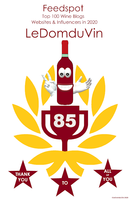 No 85 Feedspot Top 100 Wine Blogs Websites & Influencers in 2020 by ©LeDomduVin 2020