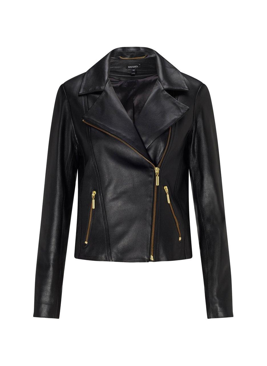 baukjen everyday leather biker jacket