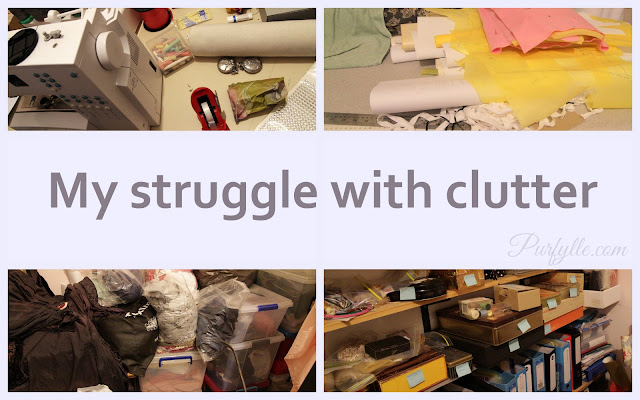 My struggle with clutter starts in the sewing room.