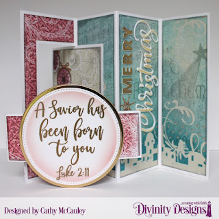Stamp Set: Keep Christ Paper: Christmas Collection 2014 Custom Dies: Lever Card with Layers, Bethlehem, Belly Band, Merry Christmas, Pierced Circles, Circles