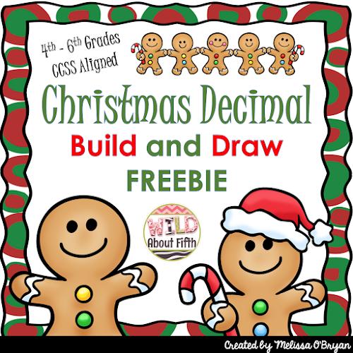 Christmas decimal place value practice