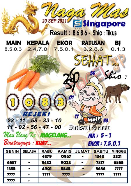 Syair Naga Mas SGP Senin 20 September 2021