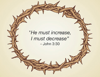 Crown of thorns picture with John 3:30