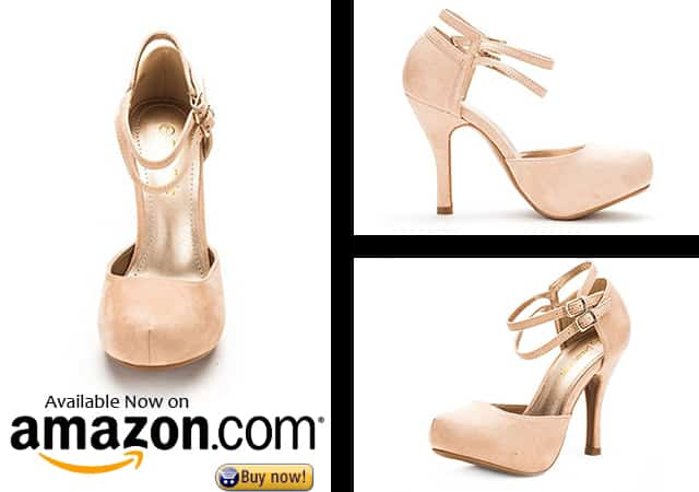 8. DREAM PAIRS OFFICE-02 Women's Classy Mary Jane Double Ankle Strap Almond Toe High Heel Pumps