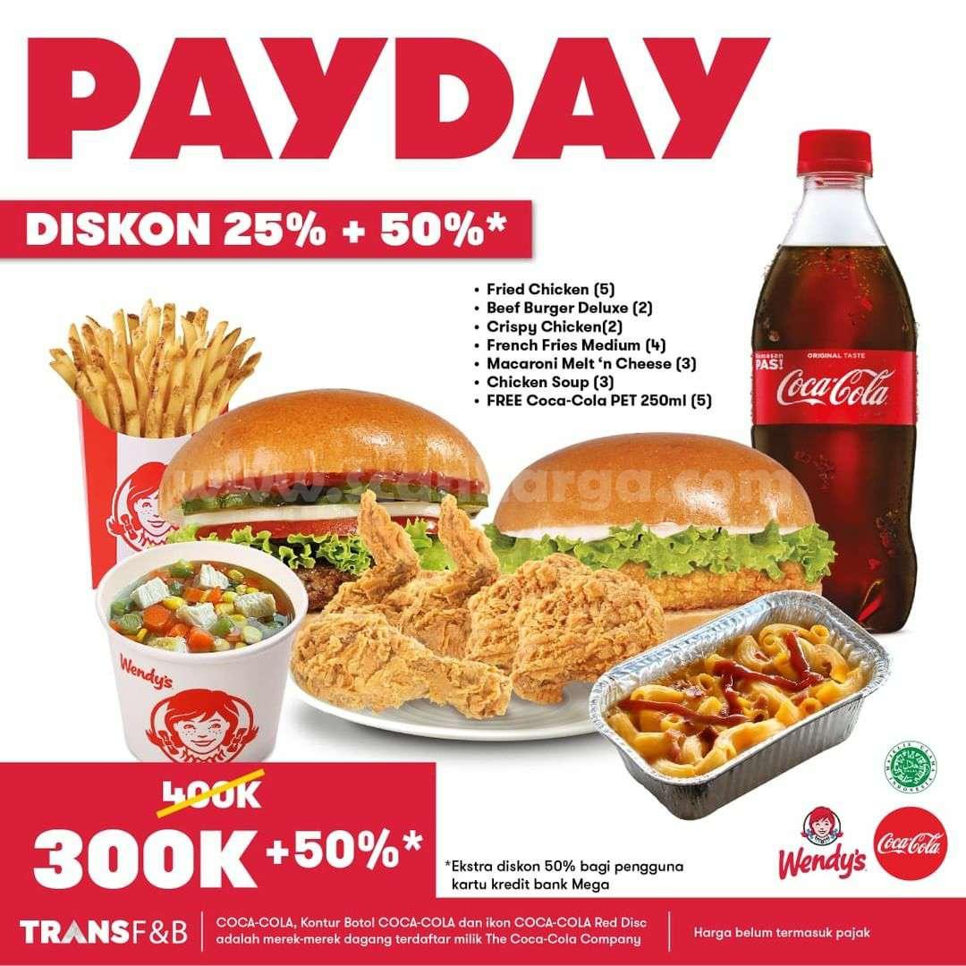 Promo WENDYS Paket PAYDAY DISKON 25% + 50% 2