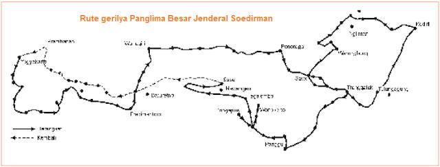 Rute gerilya Panglima Besar Jenderal Soedirman
