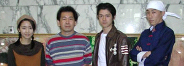 Masaya Matsukaze wearing Ryo's jacket at the AM2 Summer Festival event in 2001