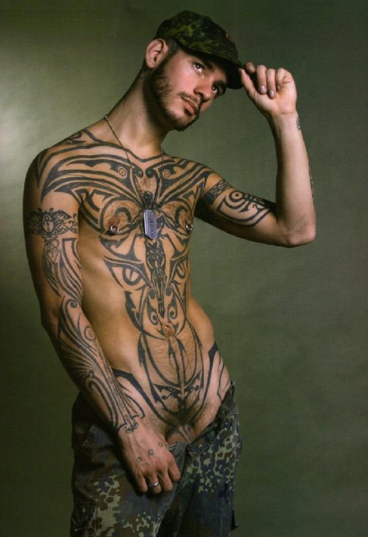 Men tattooed nude Tattooed Men