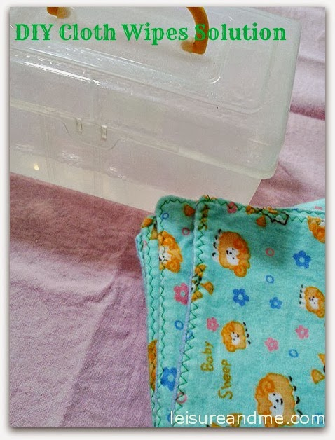 DIY Cloth wipes solution