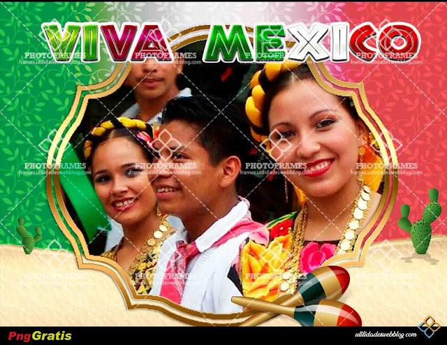 marco para fotos del dia de la independencia con la frase viva mexico