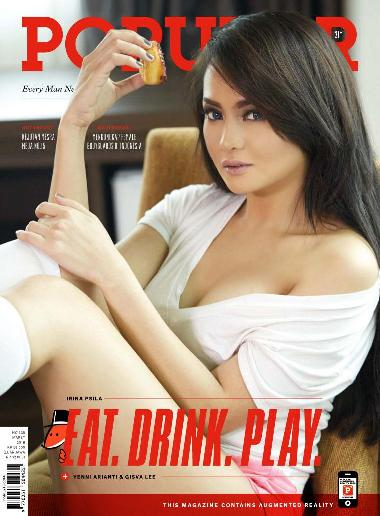 "Majalah POPULAR Indonesia No.338 Maret 2016 Every Man Needs a Break ""Eat, Drink, Play"" Yenni Arianti, Irina Psila, Gisva Lee 