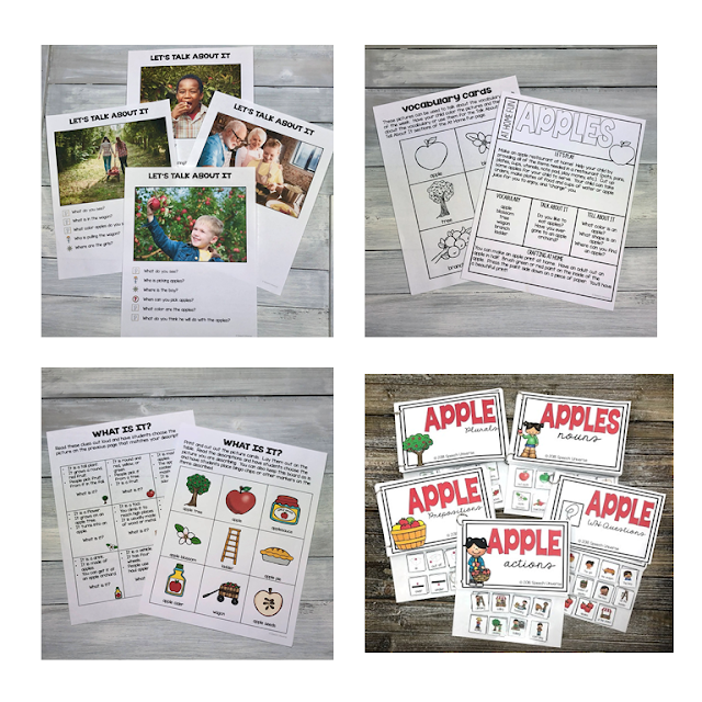 preschool language kit apples