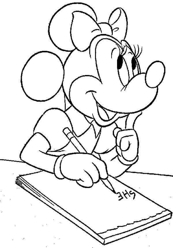 Disney Coloring Page: Minnie Mouse Coloring Page