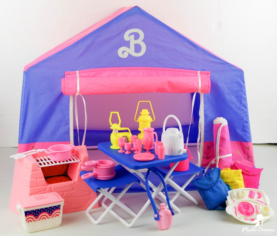 all american barbie camping playset